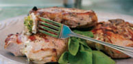 Grilled Stuffed Italian Pork Chops